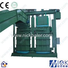 used clothing baler second cloth baling machine used rags hydraulic bale machine leather hydraulic baler
