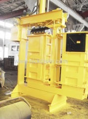 Fiber factory hydraulic baling machine used shoes baling press machine used rags hydraulic bale machine