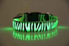 LED Zebra-Stripe Dog Collar