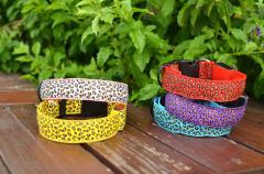 LED Leopard Print Dog Collar