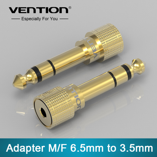 Vention 6.5mm Male Plug to 3.5mm Female Jack Stereo Headphone 1Pcs Headset Audio Adapter Connector Plug For Microphone
