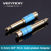 "New hot selling 6.35mm 1/4"" Male Mono Plug to RCA Female Jack Audio Adapter Connector for Projector Computer Microphone"