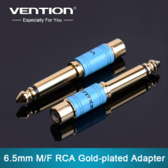"Vention New 6.35mm 1/4"" Male Mono Plug to RCA Female Jack Audio Adapter Connector for Projector Computer Microphone"