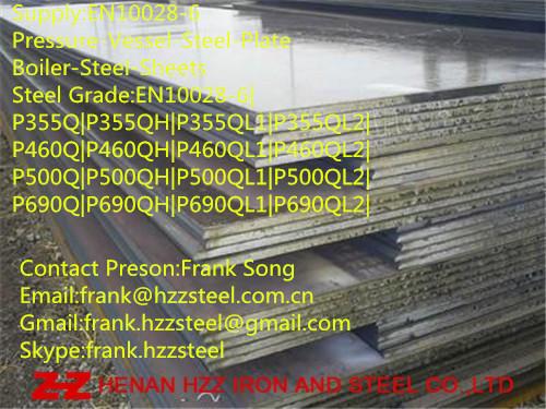 EN10028-6 P355Q pressure vessel steel plate