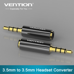 Vention 4 pole 3.5mm to 3.5mm RCA Audio Gold-Plated headphone plug Connectors jack adapter plug jack Stereo Headset