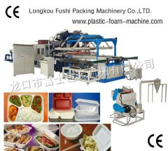 disposable foam fast food box forming machine