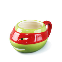 The 3d red tortoise shaped ceramic water cup