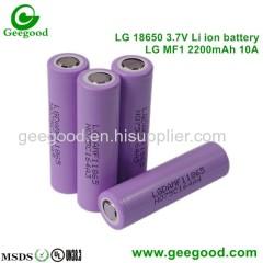 LG Chem 18650 high amp battery MF1 MF2 M26 MG1 MH1 MJ1 2200mAh 2600mAh 2900mAh 3200mAh 3500mAh 10A power batteries