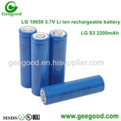 LG 18650 batteries S3 B4 C2 D1 D2 E1 FIL 2200mAh 2600mAh 2800mAh 3000mAh 3200MaH 3350mAh good quality batteries
