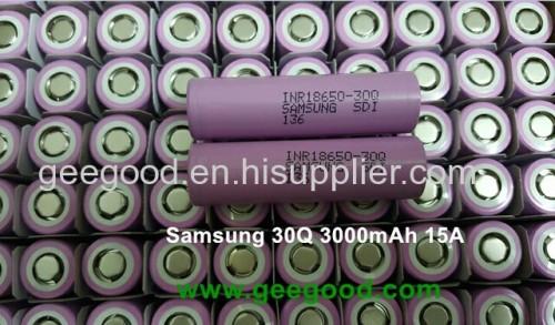 Samsung SDI 30Q 18650 3000mAh 15A 18650 high capacity battery for vape / e-cig
