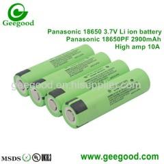 Panasonic NCR 2900mAh 18650 PF 10A high power battery best tesla battery for e-bike scooter