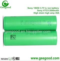 Sony VTC 5 2600mAh 30A high amp vape battery best battery for vape