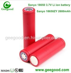 Sanyo 18650 ZY 18650 ZT 18650 ZTA 2600mAh 2800mAh 3000mAh 18650 3.7V li ion batteries