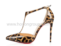 Fashion ladies leopard high heel sandals