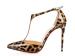 Fashion ladies leopard high heel sandals