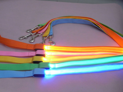 LED Pure Color Dog Leash