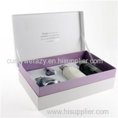 Square Rectangular Packaging For Cosmetic With Recycled Grey Board Top Sheet Liner Sheet 4 Colors Embossing Uv Ink