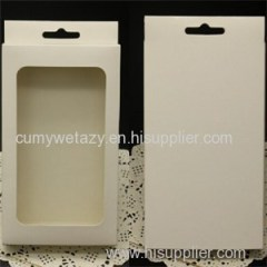 Rectangular Packaging For Mobile Phone With Recycled Grey Board Top Sheet Liner Sheet 4 Colors Embossing Uv Ink