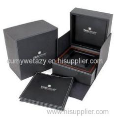 Rectangular Packaging For Watch With Recycled Grey Board Top Sheet Liner Sheet 4 Colors Embossing Uv Ink