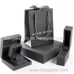 Square Packaging For Jewellery With Grey Board Top Liner Sheet 4 Colors Gloss Varnish Matte Varnish Golden Hot Stamp