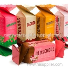 Rectangular Candy Boxes With 4 Colors Printed Recycled Paper
