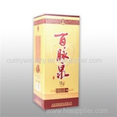 Rectangular Packaging For Wine With 4 Colors Recycled Paper Board Matte Varnish Effect CTP