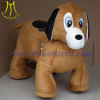 outdoor plush riding animals with chargeable battery in shopping center