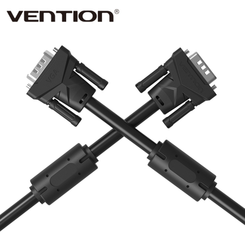 Vention Projector Extension VGA to VGA Cable with Double Magnets Ring High Premium VGA Black Cabo Male to Male