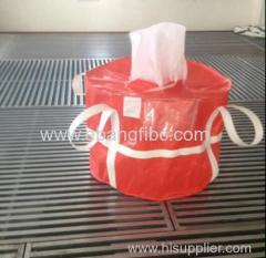 Colour red FIBC Bulk Bag with webbing for Aluminium Oxide Powder
