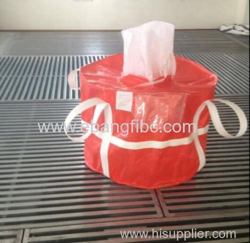 Colour red FIBC Bulk Bag with webbing for Aluminium Oxide Powder