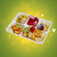 biodegradable tableware 5 compartment sugarcane tray bamboo fiber