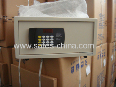 Hotel cash safety bedroom safe box with motorized locking system unlocked automatically