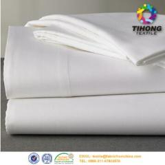 White Cotton Hotel Bed Sheet Fabric Wholesale