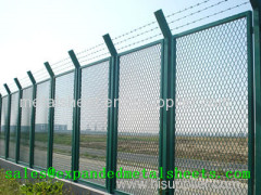 Expanded Metal Security Fence