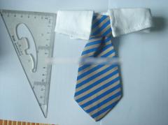 Dog Cat Striped Bow Tie Collar