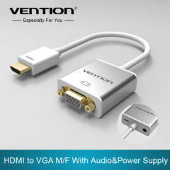 Vention HDMI to VGA Adapter Converter Cable with micro USB power 3.5mm audio interface