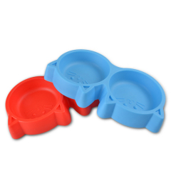 Cat Face Pet Double Bowl