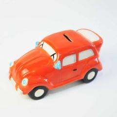 Car Shape Secure Kid Money Box with Orange or Pink Color