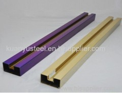 Satin surface color stainless steel tubes for stair handrail factory ...