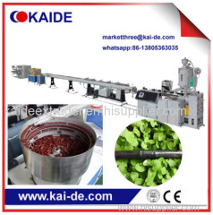 Plastic pipe extruder machine to make HDPE irrigation pipe with round emitter inside