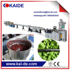 Plastic Pipe Extrusion Line to make PE irrigation pipe line with round emitter