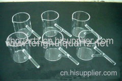 quartz flask with handle quartz product