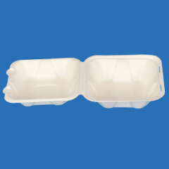 disposable biodegradable tableware--450ml sugarcane hambergur box