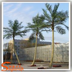 simulation palm trees plastic leaves Artificial coconut Palm Tree for beach decoration