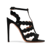 New style black hollowed out high heel dress sandals
