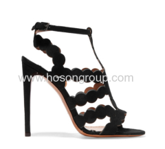 New fashion black sling back high heel sandals