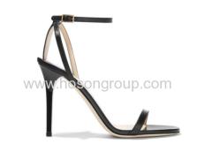 New style buckle black high heel sandals