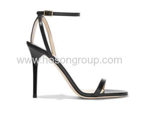 New style buckle black high heel sandals