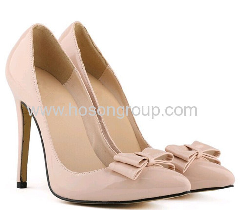 New style ladies bowtie high heel shoes
