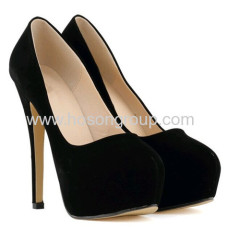 New fashion kid skin high heel party shoes